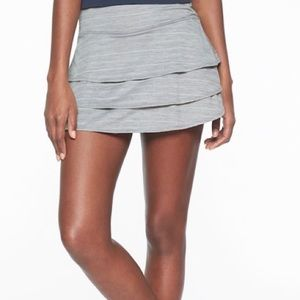 Athleta gray tennis skirt with built in shorts